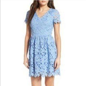 Dee Elly Blue Lace Dress Size M